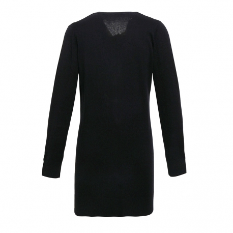 Ladies' Log Length Knitted Cardigan