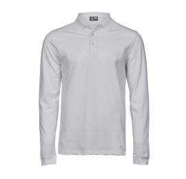 Men Luxury Stretch Long Sleeve Polo