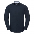 Men's Long Sleeve Tailored Contrast Ultimate Stretch Shirt